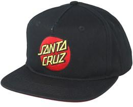 Classic Dot Black Snapback - Santa Cruz