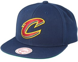 Cleveland Cavaliers Wool Solid Navy Snapback - Mitchell & Ness
