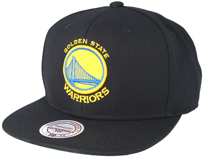 check out 9a0cc 40dd6 Golden State Warriors Wool Solid 2 Black Snapback - Mitchell   Ness caps -  Hatstoreaustralia.com