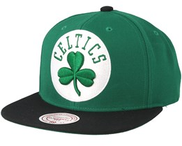 Boston Celtics XL Logo 2 Tone Green/Black Snapback - Mitchell & Ness