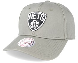 Brooklyn Nets Low Pro Strapback Green Adjustable - Mitchell & Ness