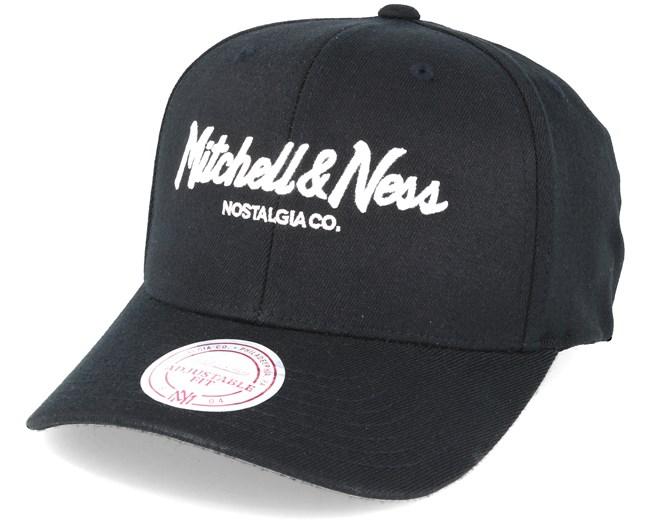 3fd17b40ba700 Pinscript 110 Black Adjustable - Mitchell   Ness caps - Hatstoreworld.com