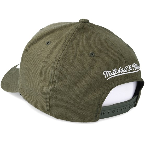 06552d7fadb031 Los Angeles Lakers B&W Logo 110 Curved Olive Adjustable - Mitchell & Ness  caps | Hatstore.co.uk