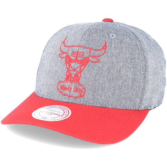 Keps Chicago Bulls Link Flex 110 Grey/Red Adjustable - Mitchell & Ness - Grå Reglerbar