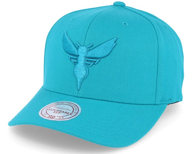 d2374c08ccdeb Charlotte hornets Tonal Logo High Crown 110 Teal Adjustable - Mitchell    Ness