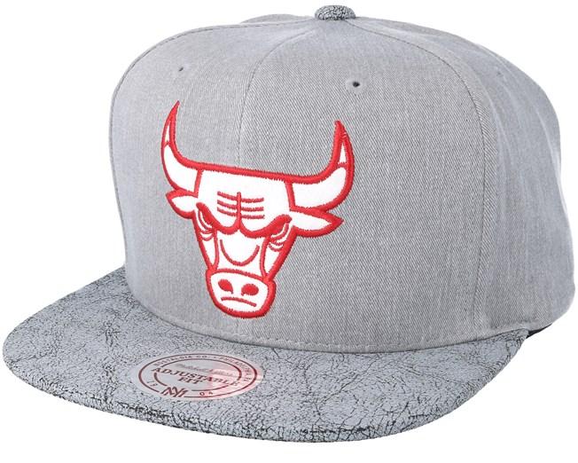 more photos 29eb2 3d9c1 Chicago Bulls Grey Snapback - Mitchell   Ness - Start Czapkę - Hatstore