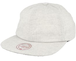 Current Cotton Melange Clip White Strapback - Mitchell & Ness
