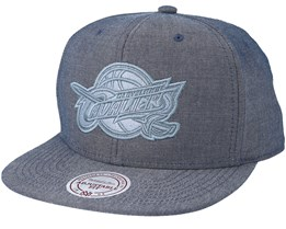 Cleveland Cavaliers Italian Washed Navy Snapback - Mitchell & Ness