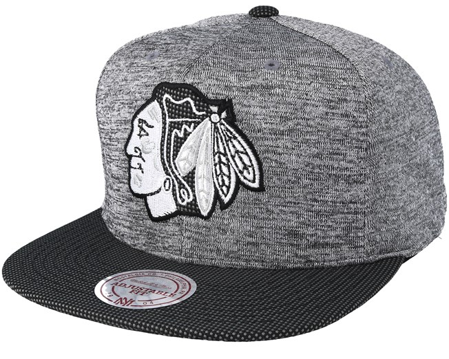 best sneakers 6fbcb c0ea7 Chicago Blackhawks Space Knit Crown PU Visor Grey Snapback - Mitchell   Ness  caps - Hatstoreworld.com