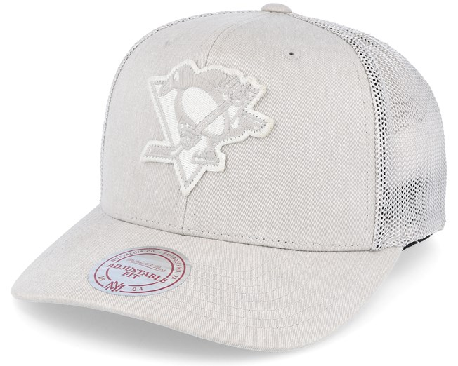 Pittsburgh Penguins Washout 110 Flexfit Stone trucker Adjustable - Mitchell    Ness fdc1865203d