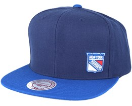 New York Rangers Little Logo Navy Snapback - Mitchell & Ness