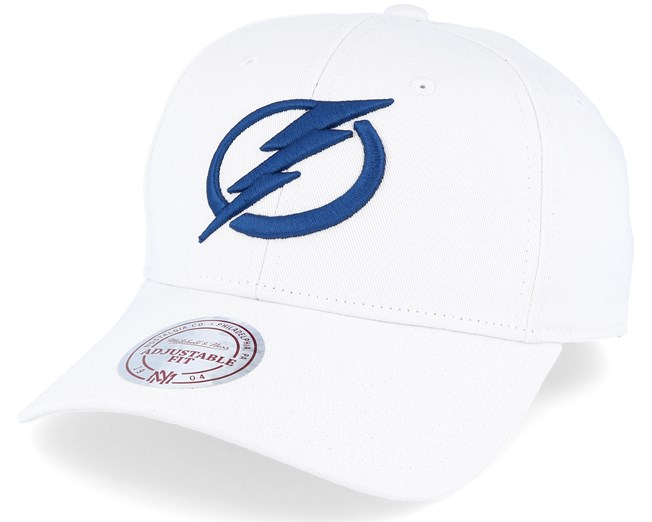 ea028587a9328 Tampa bay Lightning Team Logo Cotton Low Pro White Adjustable - Mitchell   Ness  cap - Hatstore.co.in