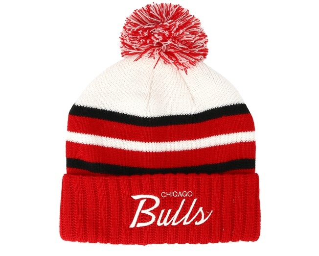 Chicago Bulls Colour Block Special Script Knit Red Beanie - Mitchell   Ness  beanie - Hatstore.co.in 5ed0a820dfd