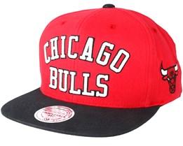 Chicago Bulls Wordmark Red Snapback - Mitchell & Ness