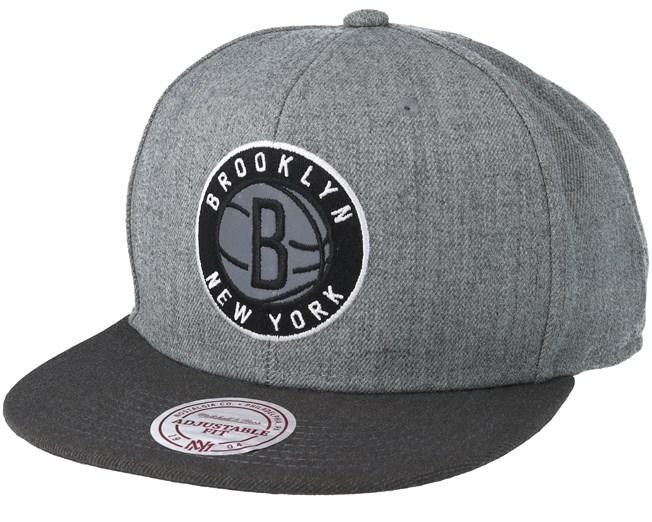 new product f6367 e14f4 Brooklyn Nets Heather Reflective Grey Snapback - Mitchell   Ness caps -  Hatstoreworld.com