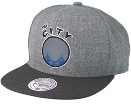 Golden State Warriors Heather Reflective Grey Snapback - Mitchell & Ness