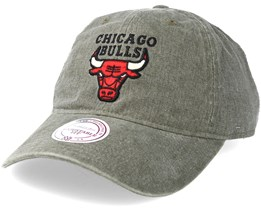 Chicago Bulls Blast Wash Slouch Strapback Grey Adjustable - Mitchell & Ness