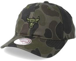 Chicago Bulls Slouch Camo Strapback Adjustable - Mitchell & Ness