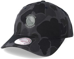 Golden State Warriors Slouch Grey Camo Strapback Adjustable - Mitchell & Ness