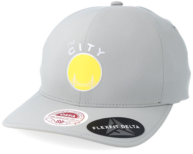 Golden State Warriors Delta Flex Grey Flexfit - Mitchell   Ness keps -  Hatstore.se 8695414b8c06d