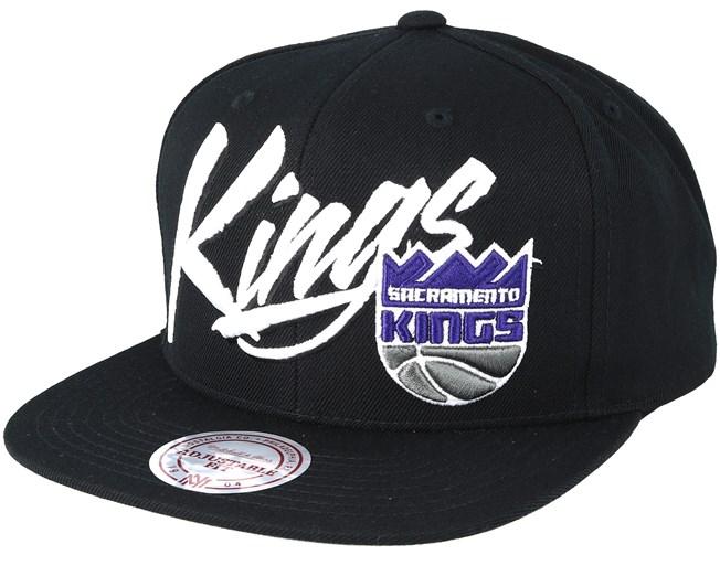 Sacramento Kings Vice Script Solid Black Snapback - Mitchell   Ness - Start  Gorra - Hatstore 25429330da2