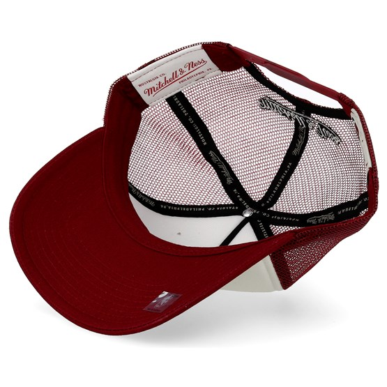 611546e26e9 Chicago Bulls The Distressed Print P.P Stone Burgundy Trucker - Mitchell   Ness  caps