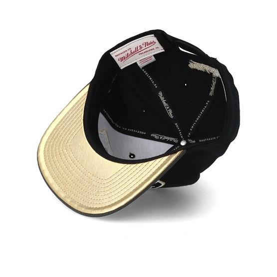 the best attitude 91d67 9b9e2 San Antonio Spurs Gold Tip Black Snapback - Mitchell   Ness caps -  Hatstorecanada.com