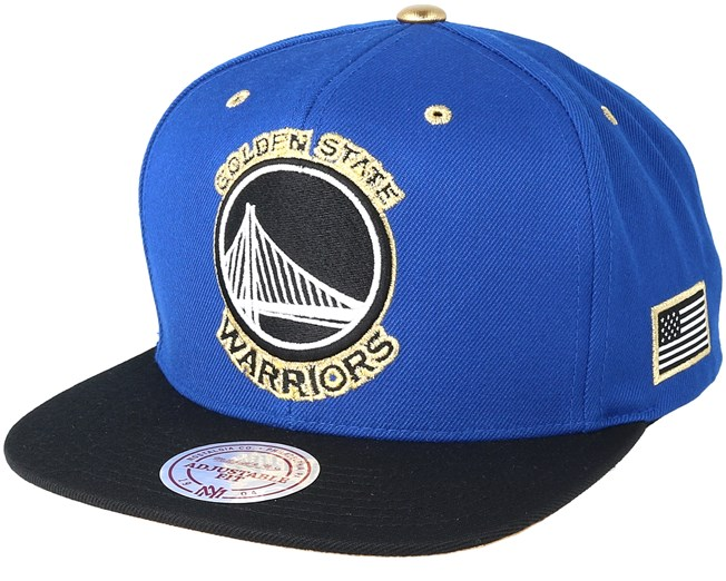 huge discount 63c7c ae118 Golden State Warriors Gold Tip Royal Snapback - Mitchell   Ness cap -  Hatstore.co.in