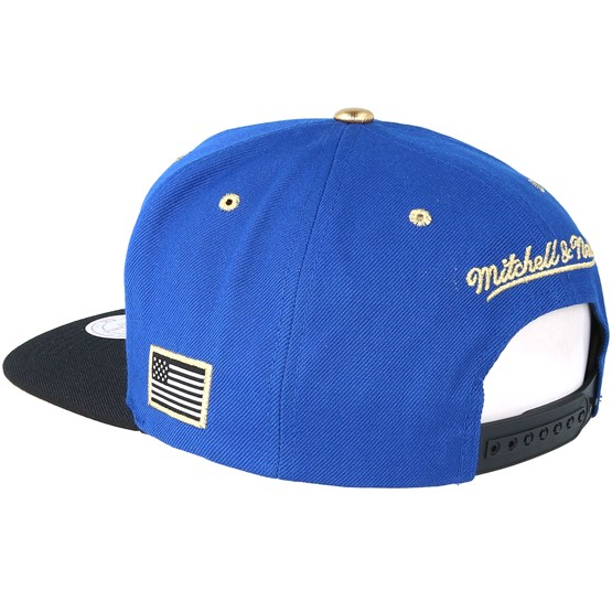 quality design 360b3 b2302 Golden State Warriors Gold Tip Royal Snapback - Mitchell   Ness caps -  Hatstoreworld.com