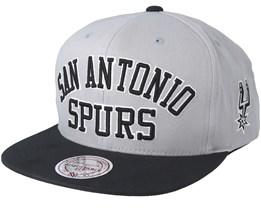 San Antonio Spurs Woodmark Jersey Hooked Grey Snapback - Mitchell   Ness 871fcc2e11f