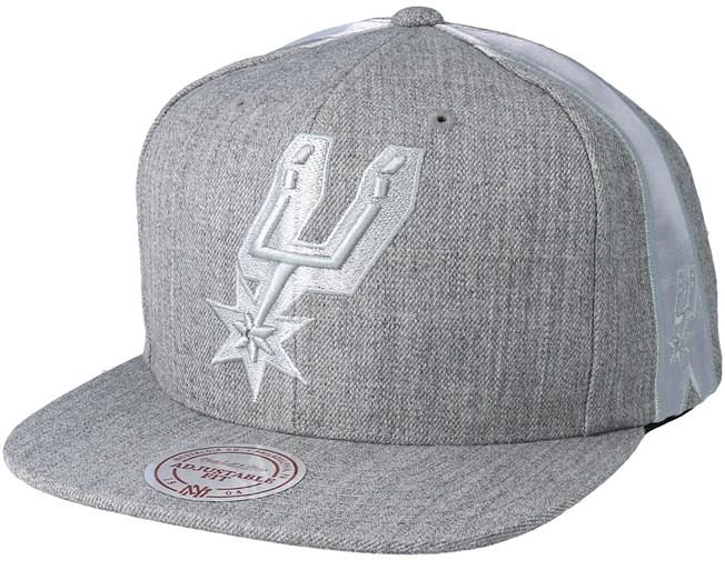 San Antonio Spurs Tonal Short Hook Heather Grey Snapback - Mitchell   Ness  - Start - Hatstore.es ab3aff1fa13