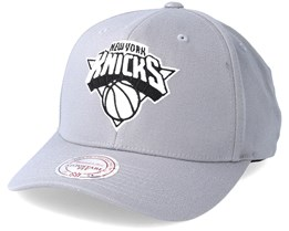 New York Knicks Gull Grey Adjustable - Mitchell & Ness