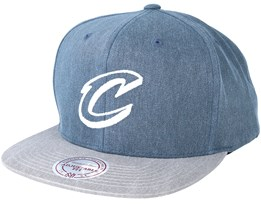 Cleveland Cavaliers Washed Twill 2 Tone Charcoal Snapback - Mitchell & Ness