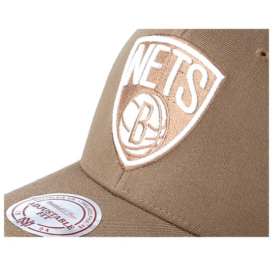 ee68a9904de Brooklyn Nets Flexfit 110 Camel Adjustable - Mitchell   Ness caps -  Hatstoreworld.com