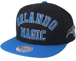 size 40 6d298 3bae1 Orlando Magic Woodmark Jersey Hooked Black Blue Snapback - Mitchell   Ness