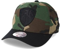 Brooklyn Nets 110 Flexfit Camo Adjustable - Mitchell & Ness