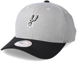 Antonio Spurs Hyper Tech Wool Crown Grey Adjustable - Mitchell & Ness