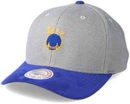 Golden State Warriors Hyper Tech Wool Crown Grey Adjustable - Mitchell & Ness