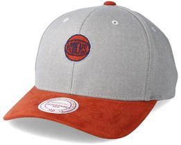 New York Knicks Hyper Tech Wool Crown Grey Adjustable - Mitchell & Ness