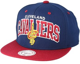 huge selection of f299b 47e23 Cleveland Cavaliers Team Arch Navy Snapback - Mitchell   Ness