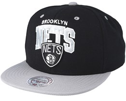 Brooklyn Nets 2 Tone Team Arch Black Snapback - Mitchell & Ness