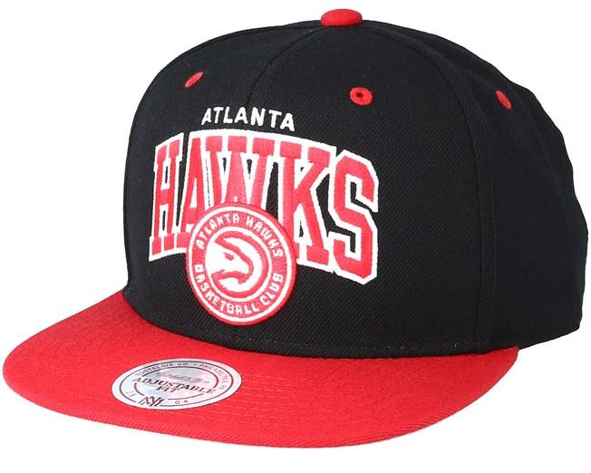 Mitchell /& Ness Snapback Atlanta Hawks Team Arch HWC black//red