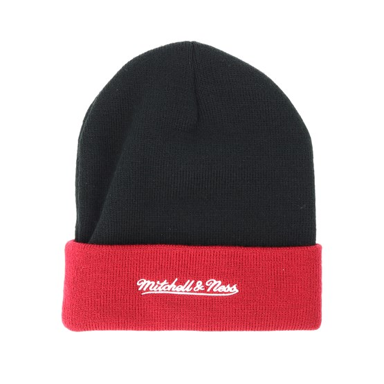 Cleveland Cavaliers Team Arch Knit Black Cuff - Mitchell   Ness beanie -  Hatstore.co.in 22a803804