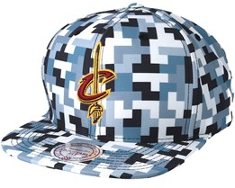 Cleveland Cavaliers Sublimated Micro Peach Camo Snapback - Mitchell & Ness