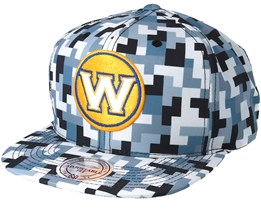 Golden State Warriors Sublimated Micro Peach Camo Snapback - Mitchell & Ness
