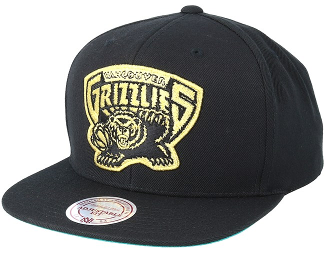 super popular 3ba5c abb3e Vancouver Grizzlies Black   Gold Metallic Black Snapback - Mitchell   Ness  caps   Hatstore.co.uk