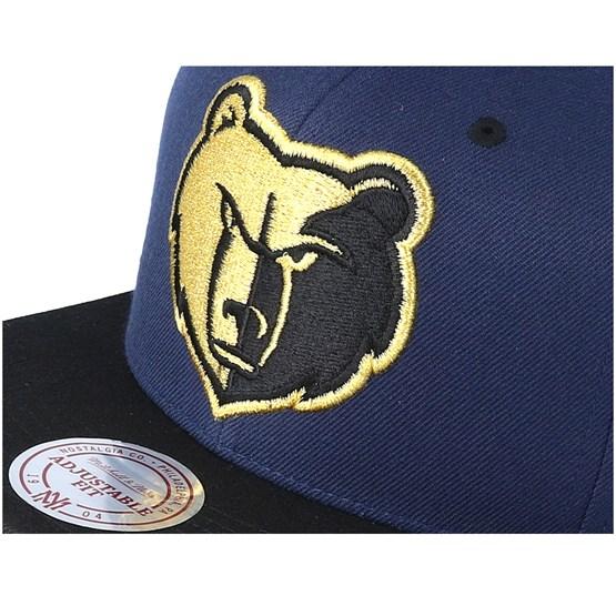 quality design 21dd2 69a66 Memphis Grizzlies Black   Gold Metallic Navy Snapback - Mitchell   Ness  caps - Hatstoreworld.com