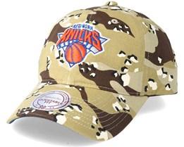New York Knicks Dad Hat Desert Camo Adjustable - Mitchell & Ness