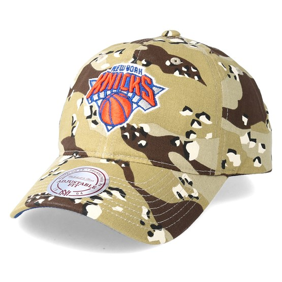 Keps New York Knicks Dad Hat Desert Camo Adjustable - Mitchell & Ness - Camo Reglerbar