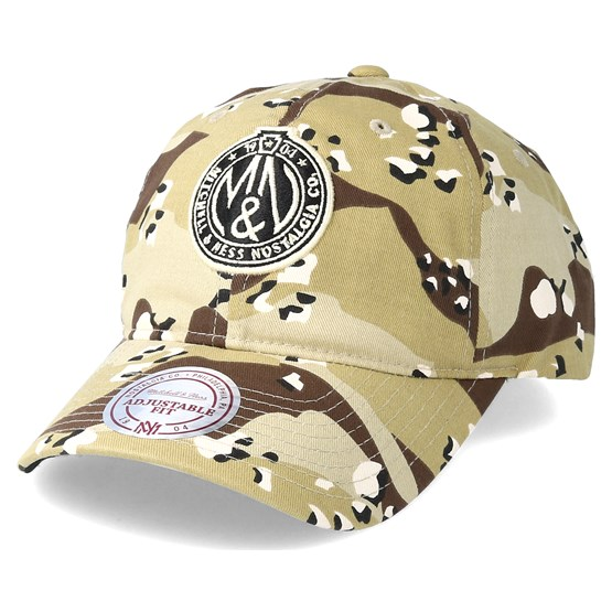 Keps Dad Hat Desert Camo Adjustable - Mitchell & Ness - Camo Reglerbar